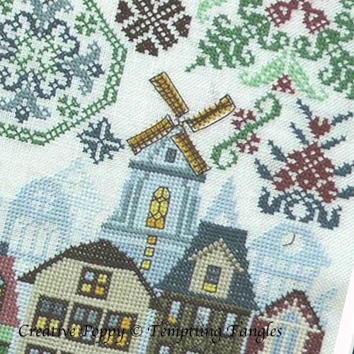 Quakers in Holland cross stitch pattern by Tempting Tangles