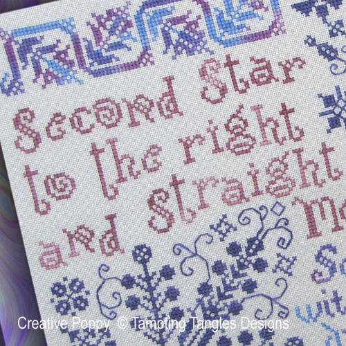 Second star cross stitch pattern by Tempting Tangles, zoom 1