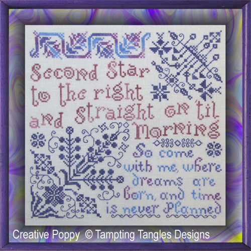Tempting Tangles - Second Star (cross stitch chart)