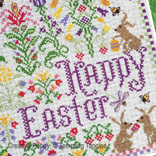Tempting Tangles - Springtime Easter Delight zoom 1 (cross stitch chart)
