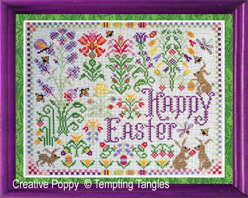 Springtime Easter delight cross stitch pattern by Tempting Tangles Designs