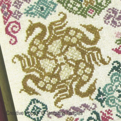 Swans and Sheers cross stitch pattern by Tempting Tangles Designs