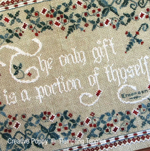 The Only Gift cross stitch pattern by Tempting Tangles Designs, zoom 1