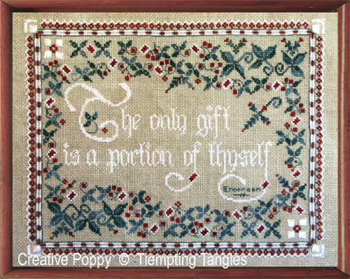The Only Gift cross stitch pattern by Tempting Tangles Designs