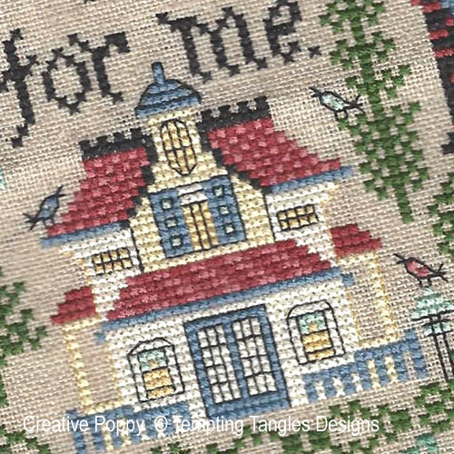 This Corner of Earth cross stitch pattern by Tempting Tangles Designs