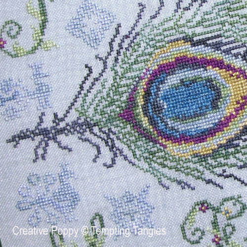 Peacock patterns to cross stitch