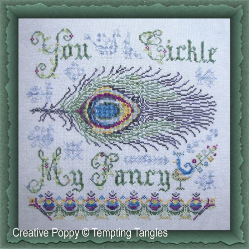 Tickle my fancy cross stitch pattern by Tempting Tangles
