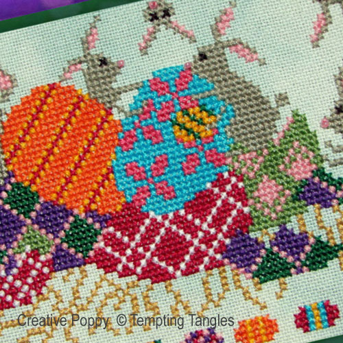 Who hid our Easter Eggs cross stitch pattern by Tempting Tangles Designs, zoom 1
