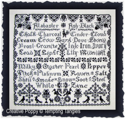 Tempting Tangles - Ebony & Ivory (cross stitch chart)