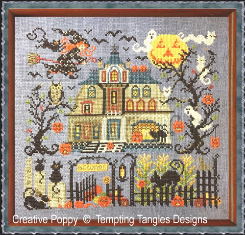The Great Cheshire Pumkin cross stitch pattern by Tempting Tangles