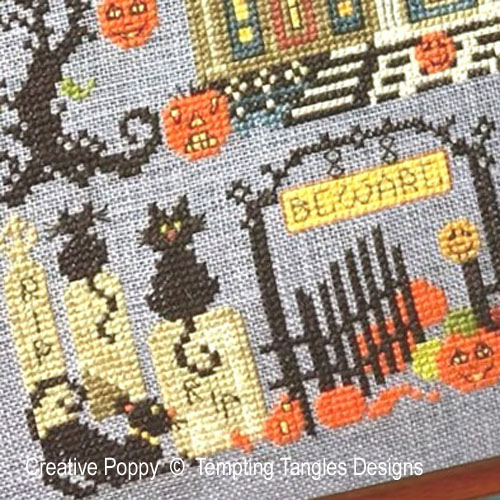 The Great Cheshire Pumkin cross stitch pattern by Tempting Tangles, zoom 1
