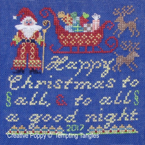 A merry Christmas to All! cross stitch pattern by Tempting tangles