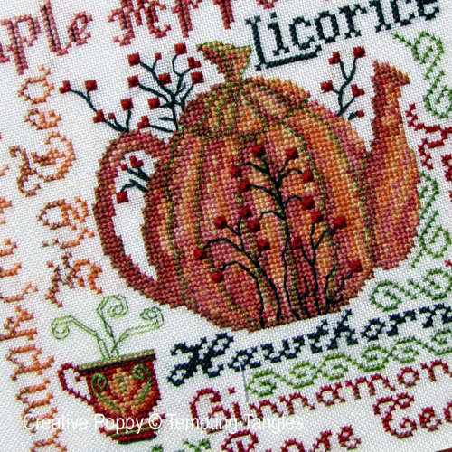 Tempting Tangles - Harvest Brew zoom 1 (cross stitch chart)