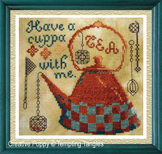 Tempting Tangles - Have a Cuppa (cross stitch chart)