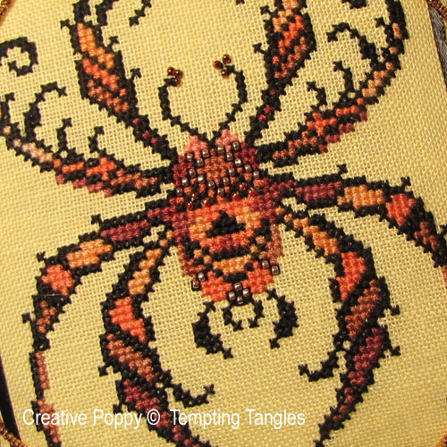 Tempting Tangles - Jack Arachnid zoom 1 (cross stitch chart)