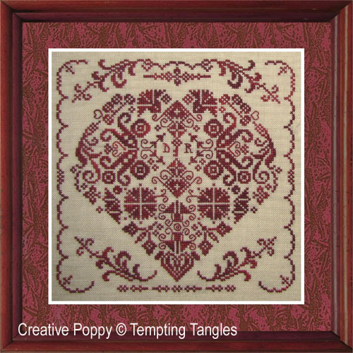 Key to my Heart cross stitch pattern by Tempting Tangles