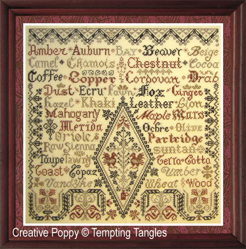 Tempting Tangles - Little Brown Jug (cross stitch chart)