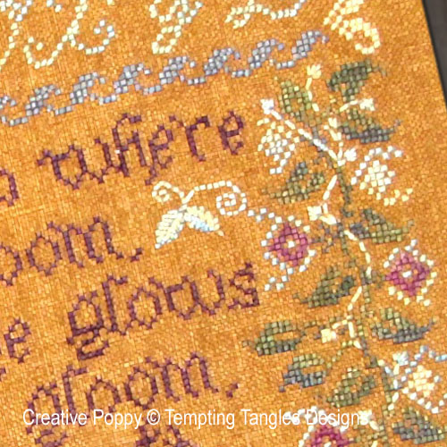 Myrtle & Roses cross stitch pattern by Tempting Tangles, zoom 1