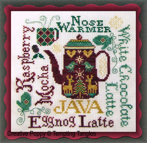 Tempting Tangles - Nose warmer (cross stitch chart)
