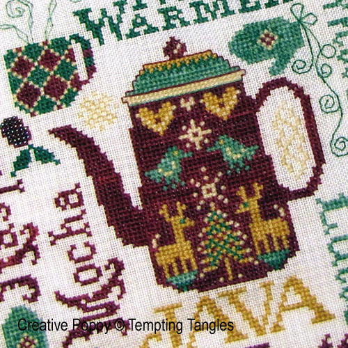 Tempting Tangles - Nose warmer zoom 1 (cross stitch chart)