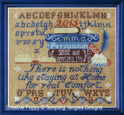 Persuasion cross stitch pattern by Tempting Tangles