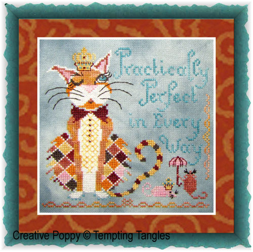 Practically Perfect cross stitch pattern by Tempting Tangles