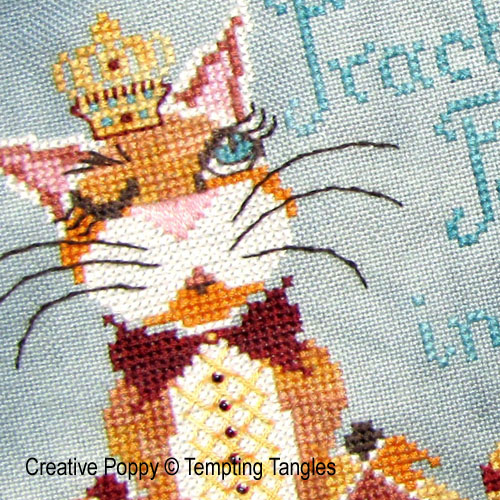 Tempting Tangles - Practically Perfect zoom 1 (cross stitch chart)
