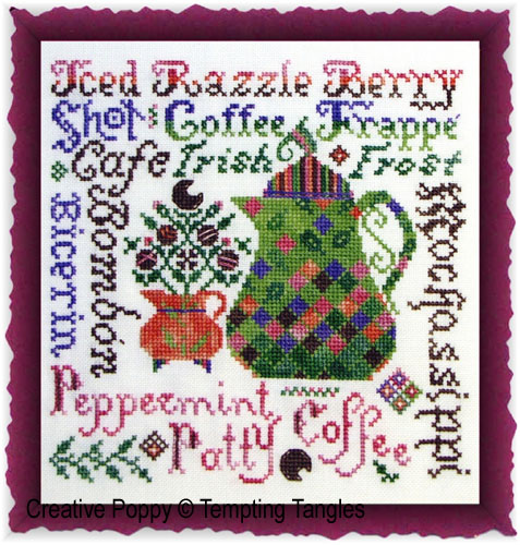 Tempting Tangles - Razzleberry Roast (cross stitch chart)