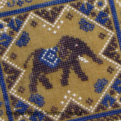 Remember Elephant cross stitch pattern by Tempting Tangles, zoom 1