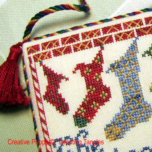 Socks for St Nick cross stitch pattern by Tempting Tangles, zoom 1