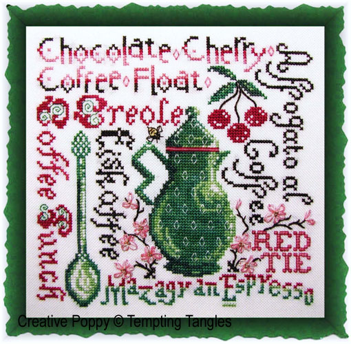 Tempting Tangles - Summer Buzz (cross stitch chart)