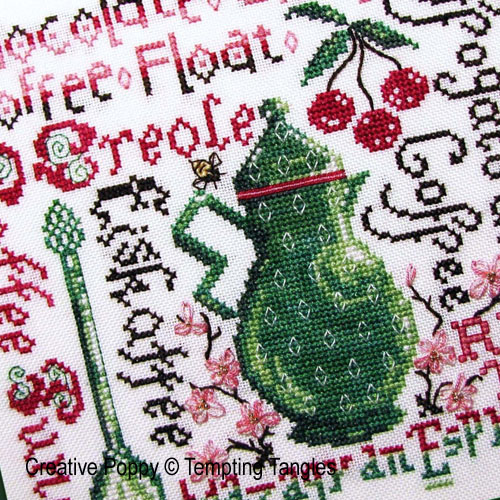 Tempting Tangles - Summer Buzz zoom 1 (cross stitch chart)