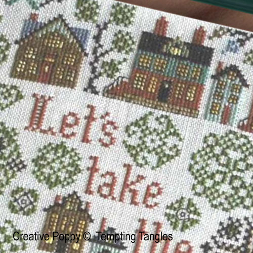 The Long Way Home cross stitch pattern by Tempting Tangles