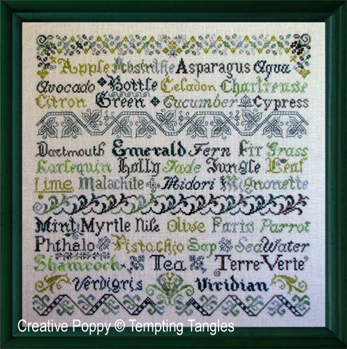 Tempting Tangles - Verdant variations (cross stitch chart)