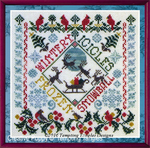 Winter Garden Party cross stitch pattern by Tempting Tangles