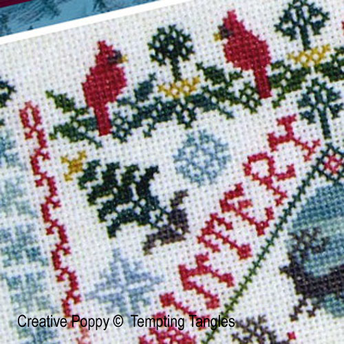 Winter Garden Party cross stitch pattern by Tempting Tangles, zoom 1