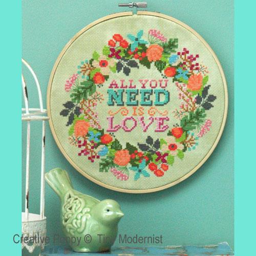 Tiny Modernist - All you need (cross stitch chart)