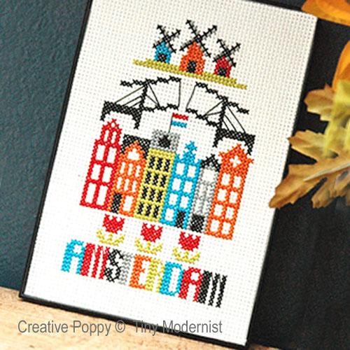 Tiny Modernist - Amsterdam zoom 1 (cross stitch chart)