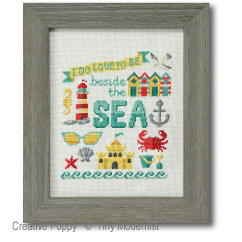 Beside the Sea cross stitch pattern by Tiny Modernist