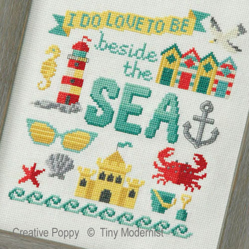 Beside the Sea cross stitch pattern by Tiny Modernist, zoom 1