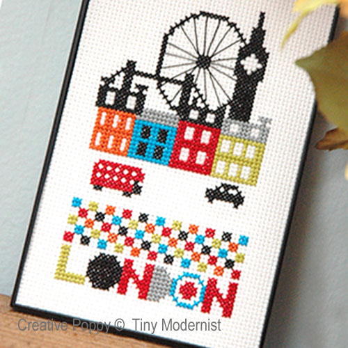 London cross stitch pattern by Tiny Modernist