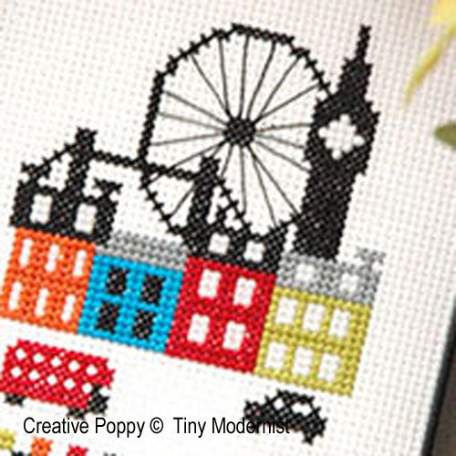 London cross stitch pattern by Tiny Modernist, zoom 1
