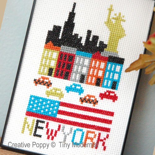 New York cross stitch pattern by Tiny Modernist