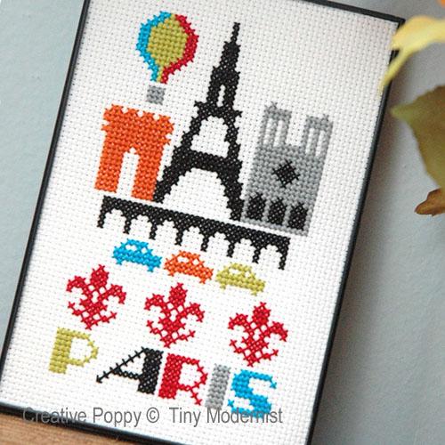 Tiny Modernist - Paris zoom 1 (cross stitch chart)