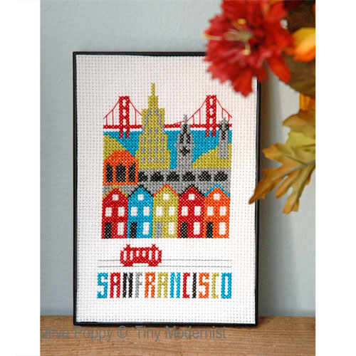 Tiny Modernist - San Francisco (cross stitch chart)
