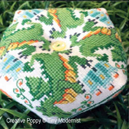Dragon Biscornu cross stitch pattern by Tiny Modernist