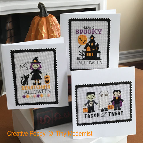 Halloween Greetings cross stitch pattern by Tiny Modernist