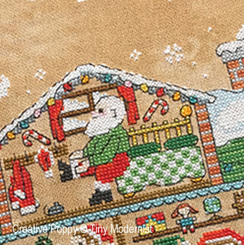Santa's House cross stitch pattern by Tiny Modernist, zoom 1