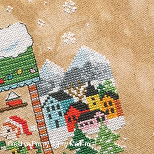Santa's House cross stitch pattern by Tiny Modernist, zoom3