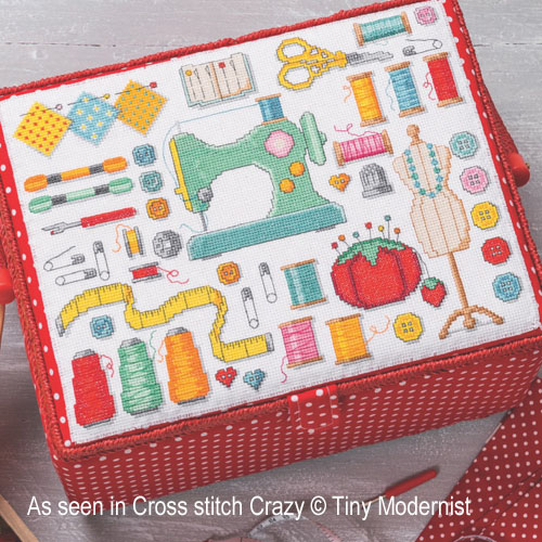 Sewing Room Motifs cross stitch pattern by Tiny Modernist